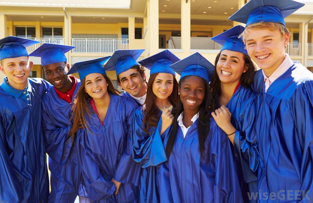 graduates-in-blue-caps-and-gowns